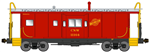 Bluford Shops 43070 N International Car Bay Window Caboose Phase 3 Chicago & North Western 11164