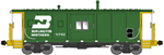 Bluford Shops 44250 N International Car Bay Window Caboose Phase 4 Burlington Northern 11702