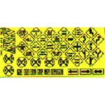 Blair Line 106 HO Highway Signs Warning #2 1948-Present black yellow