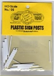 Blair Line 199 HO Plastic Sign Posts for Highway Signs