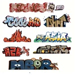 Blair Line 2244 HO Graffiti Decals Mega Set Set #1 pkg 8 184-2244