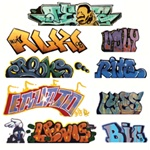 Blair Line 2245 HO Graffiti Decals Mega Set Set #2 Pkg 9