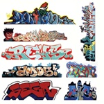 Blair Line 2246 HO Graffiti Decals Mega Set Set #3 pkg 8 184-2246