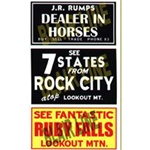 Blair Line 2251 HO Barn Sign Decals Set #2 Dealer In Horses See Ruby Falls See Rock City 184-2251