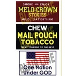 Blair Line 2254 HO Barn Sign Decals Set #5 Melo Crown Stogies Mail Pouch One Nation