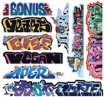 Blair Line 2262 HO Mega Set Modern Tagger Graffiti Decals #13 pkg 10 184-2262