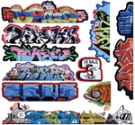 Blair Line 2263 HO Mega Set Modern Tagger Graffiti Decals #14 pkg 10 184-2263