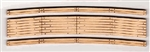 "Blair Line 27 N Laser-Cut Curved 2-Lane Wood Grade Crossing Pkg 2 15"" Radius"