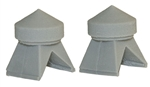 Bar Mills 4037 O Roof Vents Unpainted Pkg 2