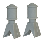 Bar Mills 4038 O Tall Roof Vents Unpainted Pkg 2
