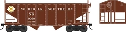 Bowser 42273 HO 55-Ton Fishbelly Hopper w/ Peaked Ends Original Norfolk Southern 9038 Circular Logo 6-42273