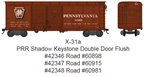 Bowser 42346 HO Class X31a 40' Double-Door Flush-Roof Boxcar Pennsylvania 60898 Tuscan Shadow Keystone