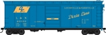 Bowser 42442 HO 40' Single-Door Steel Boxcar Louisviille & Nashville 46745 Dixie Line and DF Logos