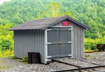 B.T.S. 17658 O C&O Standard Section Car House Laser-Cut Wood Kit 13 x 20 Scale Feet 464-17658