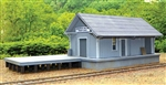 B.T.S. 27653 HO C&O Quinnimont Section Freight Depot Laser-Cut Wood Kit