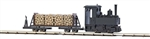 Busch 12011 HOn2 Freight Starter Set w/Decauville Typ 3 0-4-0T 3V Battery Powered Feldbahn Steam Loco w/Log Car 189-12011