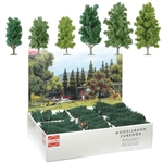 "Busch 6332 Deciduous Trees Bulk Pack Mixed Poplars & Birches 4-1/2 5-7/8"" Tall Pkg 36"