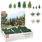 Busch 6333 Mixed Tree Bulk Pack Mixed Pine Deciduous & Blooming Pkg 204