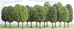"Busch 6486 Deciduous Trees 3 to 4-15/16"" Tall Pkg 12"