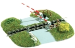 Busch 8023 HO Grade Crossing w/Gates For HO or N Scales
