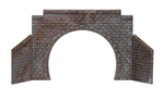 Busch 8198 N Cut Stone Double-Track Tunnel Portal w/Wing Walls