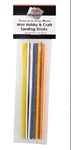 Creations Unlimited 101 Mini Hobby and Craft Sanding Sticks 3 Sticks Each: 100 180 240 320 400 Grit