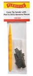 Creations Unlimited CS150 Cone-Tip Sander 150 Grit Abrasive Pieces 10 & Handle