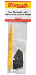 Creations Unlimited CS320 Cone-Tip Sander 320 Grit Abrasive Pieces 10 & Handle