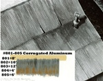 "Campbell 804 HO Corrugated Aluminum Sheets .002 x 7-1/2"" Scale Width: 4' 1.2m pkg 10 200-804"