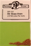 Durango Press 121 HO Brass Chain 12""