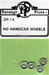 Durango Press 14 HO Hand Car Wheels For Use w/#254-12 and 254-22