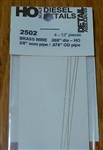 "DTA2502 Detail Associates Brass wire .008"" dia   4/ 229-2502"