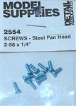 "DTA2554 Detail Associates Screw Pnhd 2/56x1/4"" 10 229-2554"