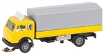 Faller 162052 N 1989-1998 Mercedes-Benz SK Low-Side Truck w/ Canvas Tarp Car System 272-162052