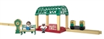 Fisher-Price GGG71 V Knapford Train Station Thomas and Friends Wooden Railway Station Shelter Bench 2 Figures Clock Passenger Car