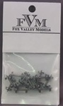 "FVM3603 Fox Valley Models N 36"" Wheels .563"" Axle 12/ 282-3603"