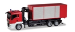 Herpa 13406 HO MAN TGS Roll-Off Container Truck with Crane Minikit Various Standard Colors