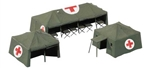 Herpa 746021 HO Medical Services Tents Kit Cross Pkg 3