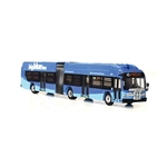 Iconic Replicas 870159 HO New Flyer Xcelsior XN60 Articulated Bus Assembled Santa Monica, California Big Blue Bus