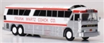 Iconic Replicas 870255 HO 1970 MCI MC-7 Bus Assembled Martz Trailways