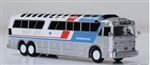 Iconic Replicas 870257 HO 1970 MCI MC-7 Bus Assembled Gray Line Sightseeing