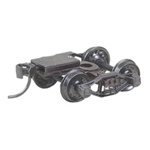 "Kadee 512 HO Bettendorf T-Section Sprung Metal Trucks w/Whisker Couplers Code 110 33"" Ribbed-Back RP-25 Wheels 1 Pr"