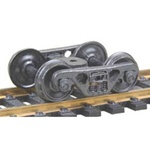 Kadee 555 HO A.S.F. 100-Ton Roller Bearing Fully Sprung Self-Centering Metal Trucks 1 Pair