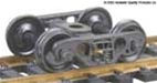 "Kadee 558 HO Barber S-2 70-Ton Roller Bearing Sprung Self-Centering Metal Trucks Code 110 33"" Smooth-Back RP-25 Wheels 1 Pr"