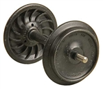 "Kadee 961 G Ribbed-Back Metal Wheelsets 33"" Diameter for 1/29 Scale or 36"" for 1/32 #1 Scale 1 Set 380-961"