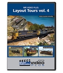 Kalmbach 15353 Layout Tours Model Railroader Video Plus DVD Volume 4 1 hour 15 minutes 400-15353