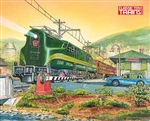 Kalmbach 69018 Classic Toy Trains Lionel GG1 at Lionelville Station Print by Robert Sherman 16 x 20""