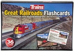 Kalmbach 83009 Great Railroads Flashcards 36 Cards