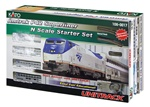 Kato 1060017 N Amtrak Superliner Starter Set Amtrak Phase IVb; Silver Blue Red Pinstripes; 2000s Logo 381-1060017