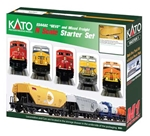 Kato 106-0022 N GE ES44AC GEVO Mixed Freight Starter Set Canadian Pacific Loco 6 Cars